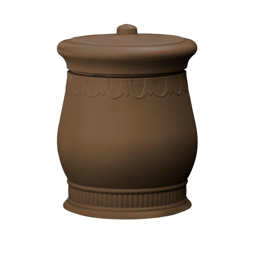 Polyethylene Urn Waste And Storage Bin In Oak