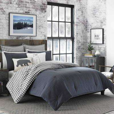 Kingston 3-Piece Charcoal King Comforter Set