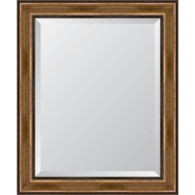 29 in. x 35 in. Framed 3 1/4 in. Brown with Dark Edges Resin Frame Mirror