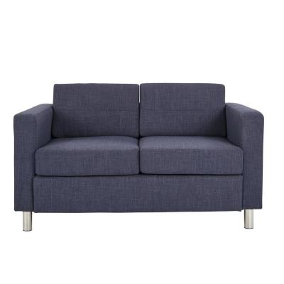 Pacific Navy Fabric Love Seat