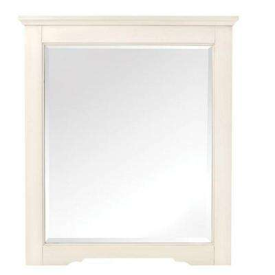 Davenport 32 in. H x 28 in. W Framed Wall Mirror in Ivory