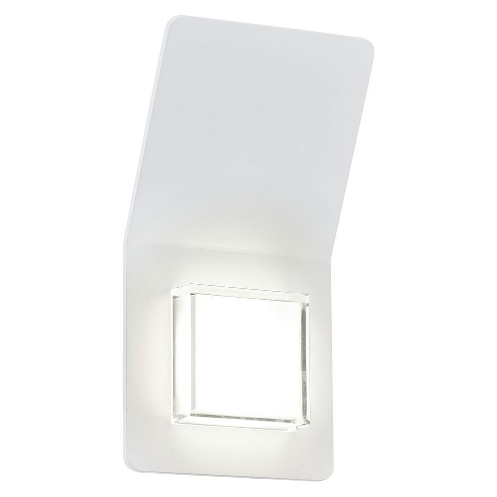 Eglo Pias 2 Light White Outdoor Integrated LED Wall