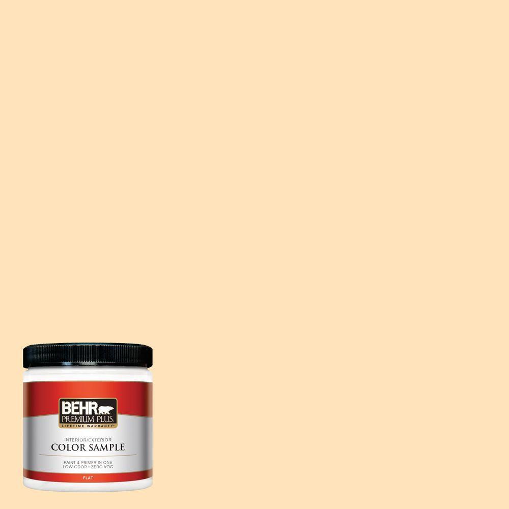 8 oz. #ICC-91 Lemon Whip Interior/Exterior Paint Sample