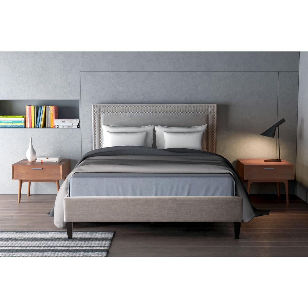 Zuo Modern Renaissance Dove Gray Queen Sleigh Bed