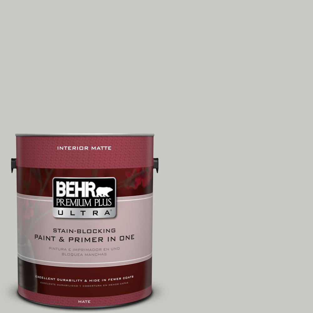 1 gal. #N380-2 Heath Gray Matte Interior Paint