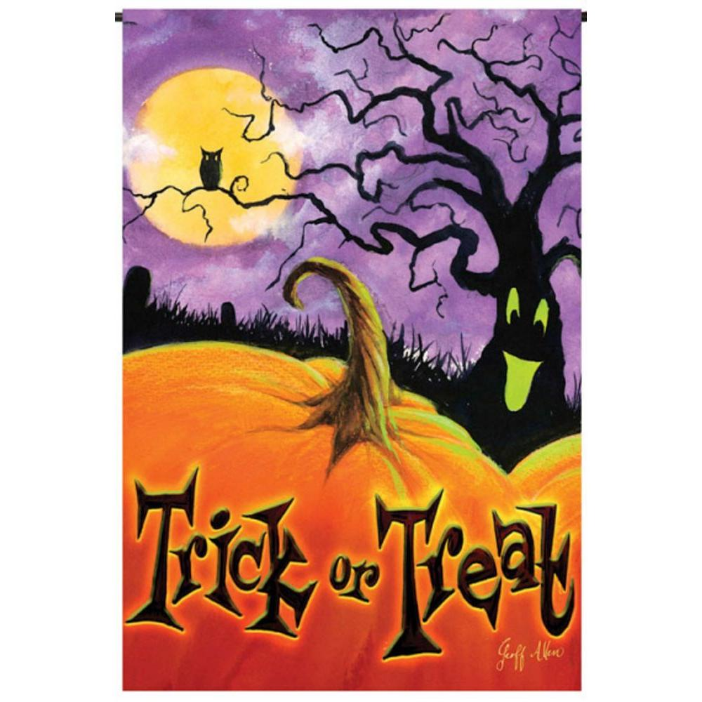 Evergreen 1 ft. x 1-1/2 ft. Garden Sub Trick or Treat Flag