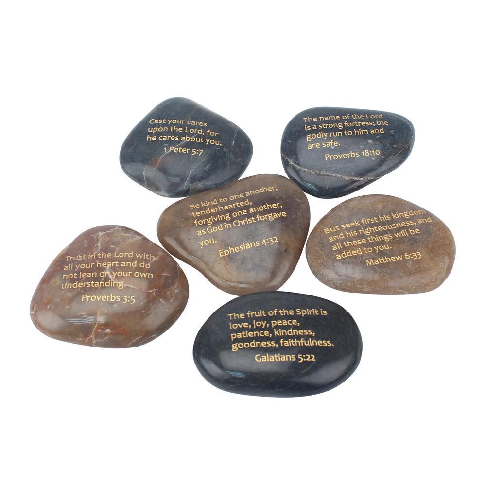 Set of 6 Scripture Rocks