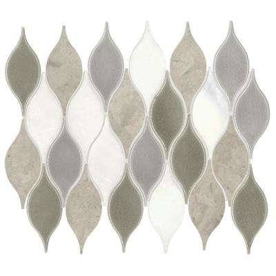 Crescent Peak Gray 10 in. x 13 in. x 10mm Natural Stone Mosaic Wall Tile (0.68 sq. ft. / piece)