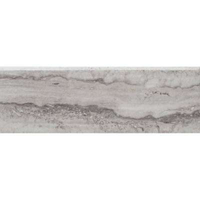 Isabella Piazza Silver Matte S44C9 4-1/4 in. x 12-3/4 in. Ceramic Bullnose Wall Tile (7.58 sq. ft. / Case)