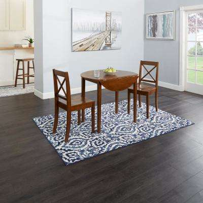 Murphy 3-Piece Brown Drop Leaf Dining Set with X-Back Chairs