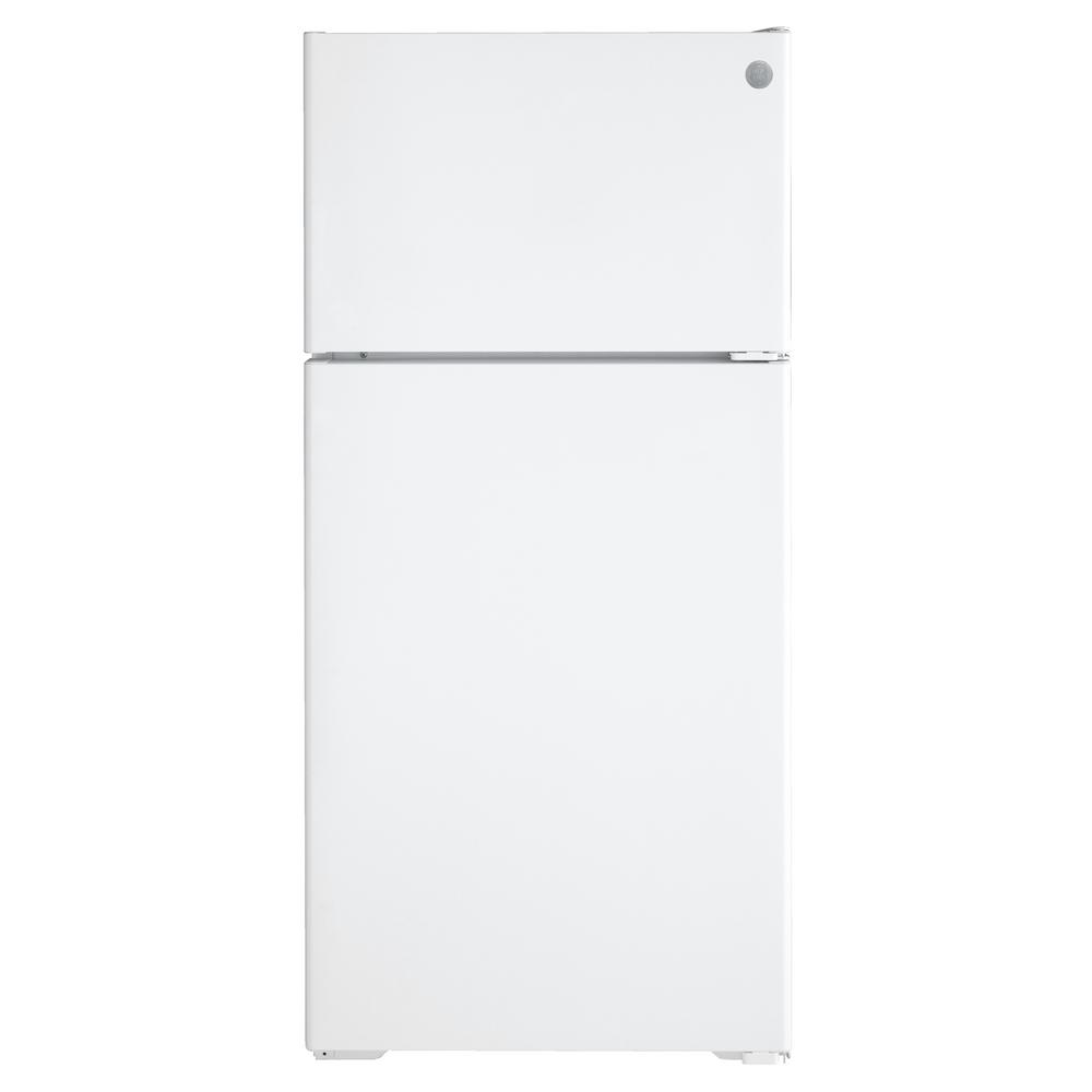 GE 16.6 cu. ft. Top Freezer Refrigerator in White, ENERGY STAR