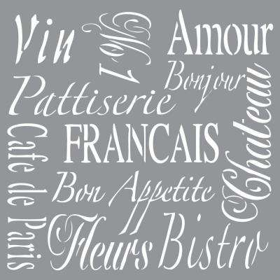 Americana Decor French Living Stencil