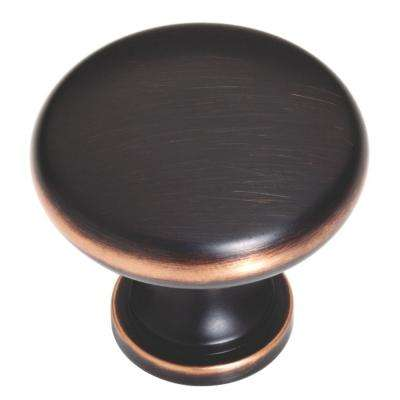 Classic Round 1-3/4 in. (45mm) Bronze with Copper Highlights Oversized Solid Cabinet Knob