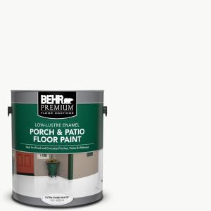1 gal. Ultra Pure White Low-Lustre Enamel Interior/Exterior Porch and Patio Floor Paint