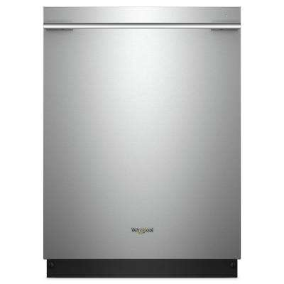 24 in. Top Control Smart Built-In Tall Tub Dishwasher in Fingerprint Resistant Stainless Steel with Contemporary Handle