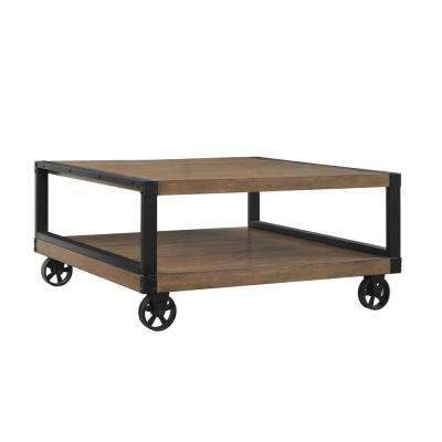 Fenwick Rustic Gray Mobile Coffee Table