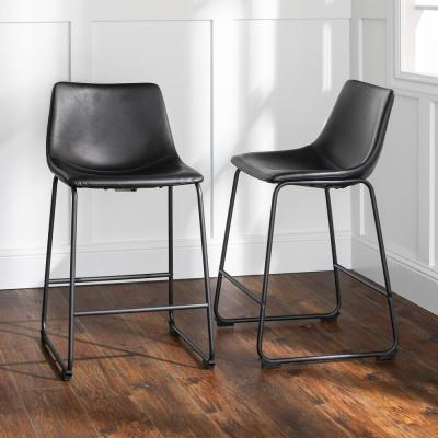Wasatch 36 in. Black Bar Stools (Set of 2)