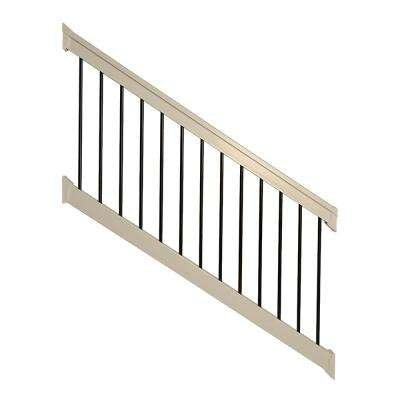 Bellaire 3.5 ft. H x 96 in. W Khaki Vinyl Stair Railing Kit