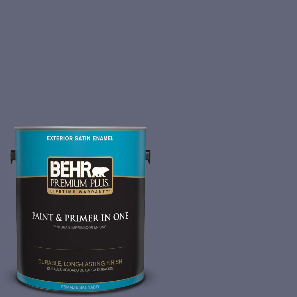 BEHR Premium Plus 1-gal. #630F-6 Violet Evening Satin Enamel Exterior Paint