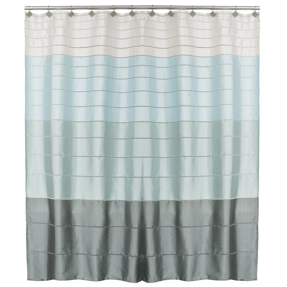 Saturday Knight Modena Stripe 72 In Polyester Shower Curtain