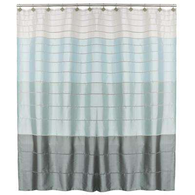 teal striped shower curtain. Modena Stripe 72 in  Polyester Shower Curtain Striped Curtains Accessories The Home Depot