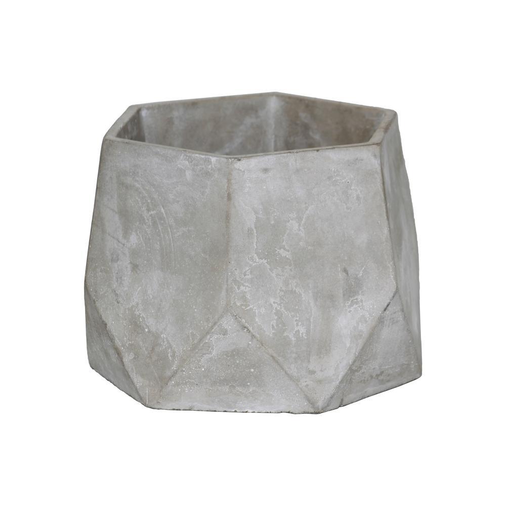 Gray Concrete Cement Decorative Vase