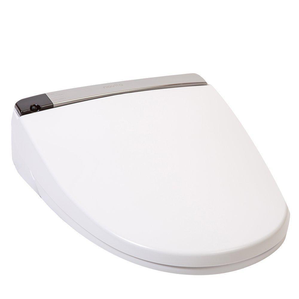 Novita Electric Bidet Seat for Round Toilets with Remote Control in White