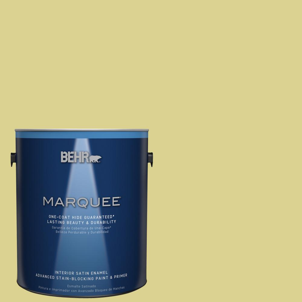 1 gal. #T17-16 That's My Lime Satin Enamel Interior Paint