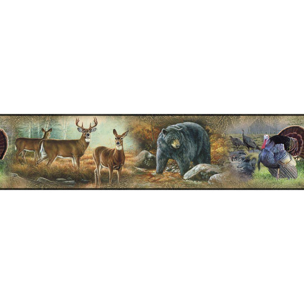 Wildlife Medley Peel and Stick Wallpaper Border