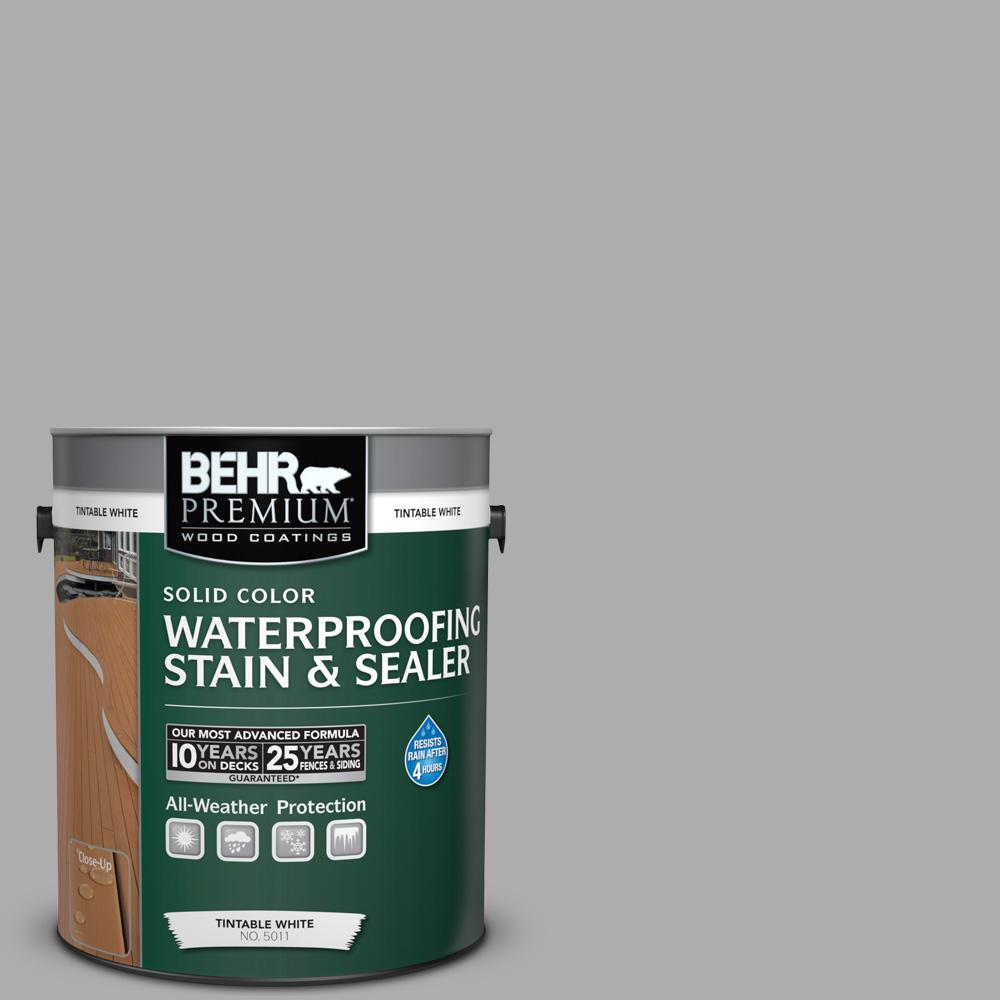 1 gal. #N520-3 Flannel Gray Solid Color Waterproofing Exterior Wood Stain