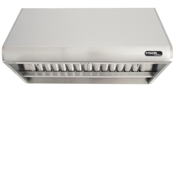 36 in. 900 CFM Professional Style Stainless Steel Range Hood with Stainless Steel Baffles