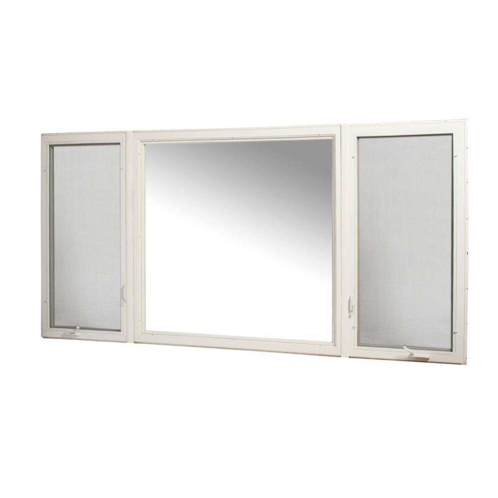 TAFCO WINDOWS 119 in. x 60 in. Vinyl Casement Window with Screen - White