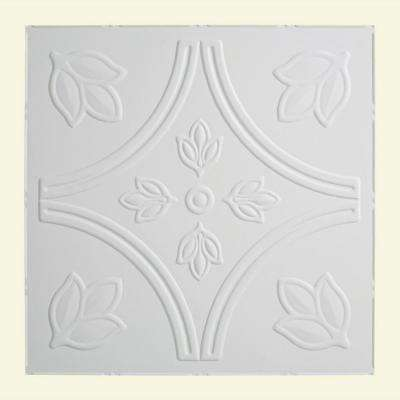 Traditional 5 - 2 ft. x 2 ft. Lay-in Ceiling Tile in Gloss White