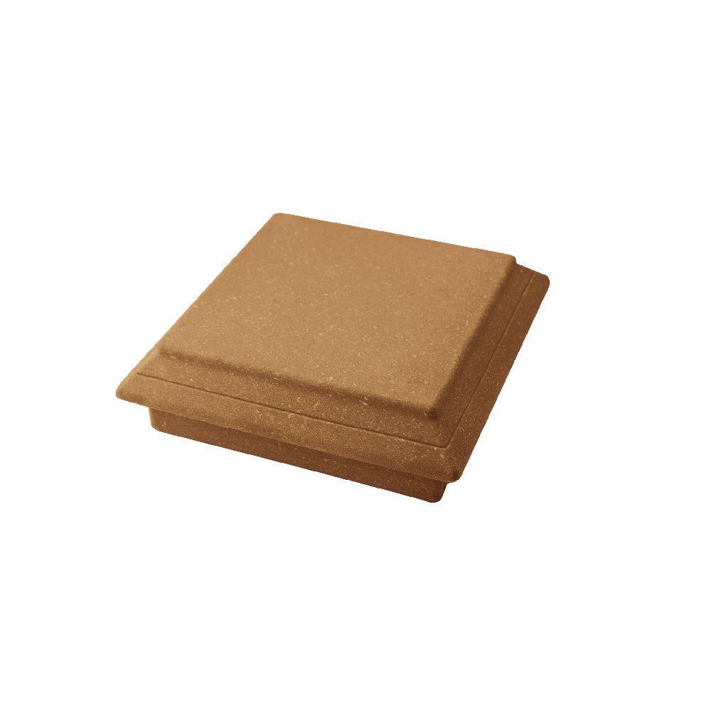 Vantage 5-1/2 in. x 5-1/2 in. Rustic Cedar Composite Beveled Post Cap