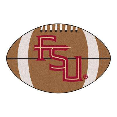 NCAA Florida State University FSU Logo Brown 1 ft. 10 in. x 2 ft. 11 in. Specialty Accent Rug