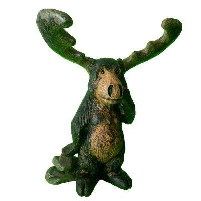 14-1/2 in. Standing Moose Home and Garden Statue