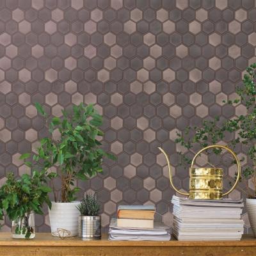 Hexagon Tile Regal Noir Self-Adhesive, Removable Wallpaper
