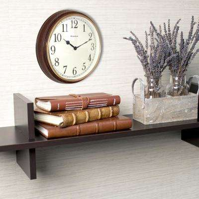 15.5 in. Wood Grain Finish Wall Clock with Bezel