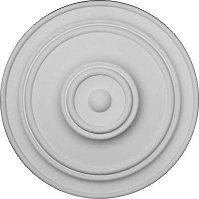 21-7/8 in. OD x 2-3/8 in. P For Canopies up to 5-1/2 in.) Classic Polyurethane Ceiling Medallion