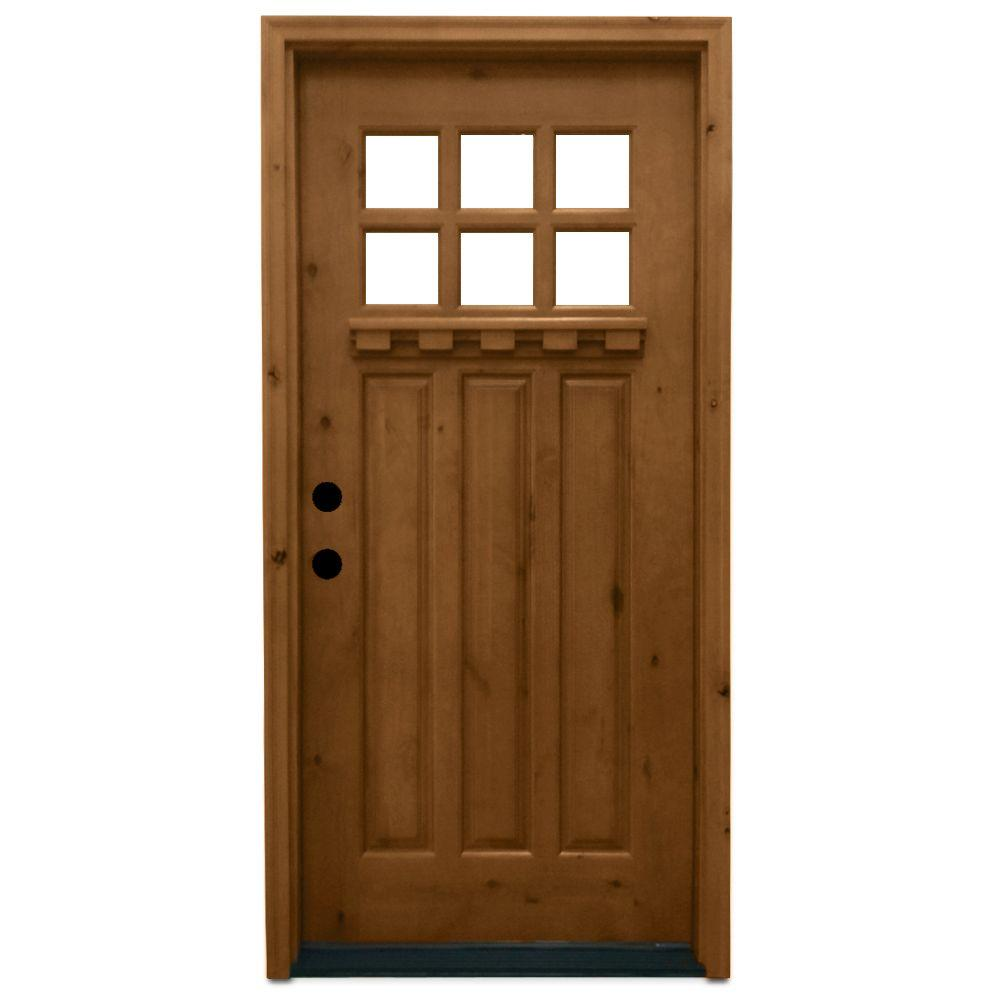 Exterior Doors At Home Depot: Steves & Sons 36 In. X 80 In. Craftsman 6 Lite Stained