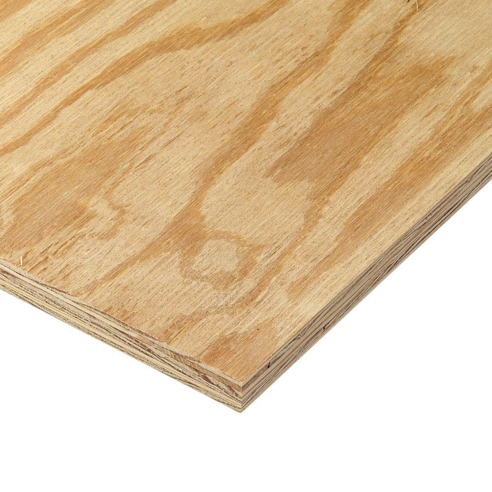 15 32 In X 4 Ft X 8 Ft Bc Sanded Pine Plywood 166030 The Home Depot