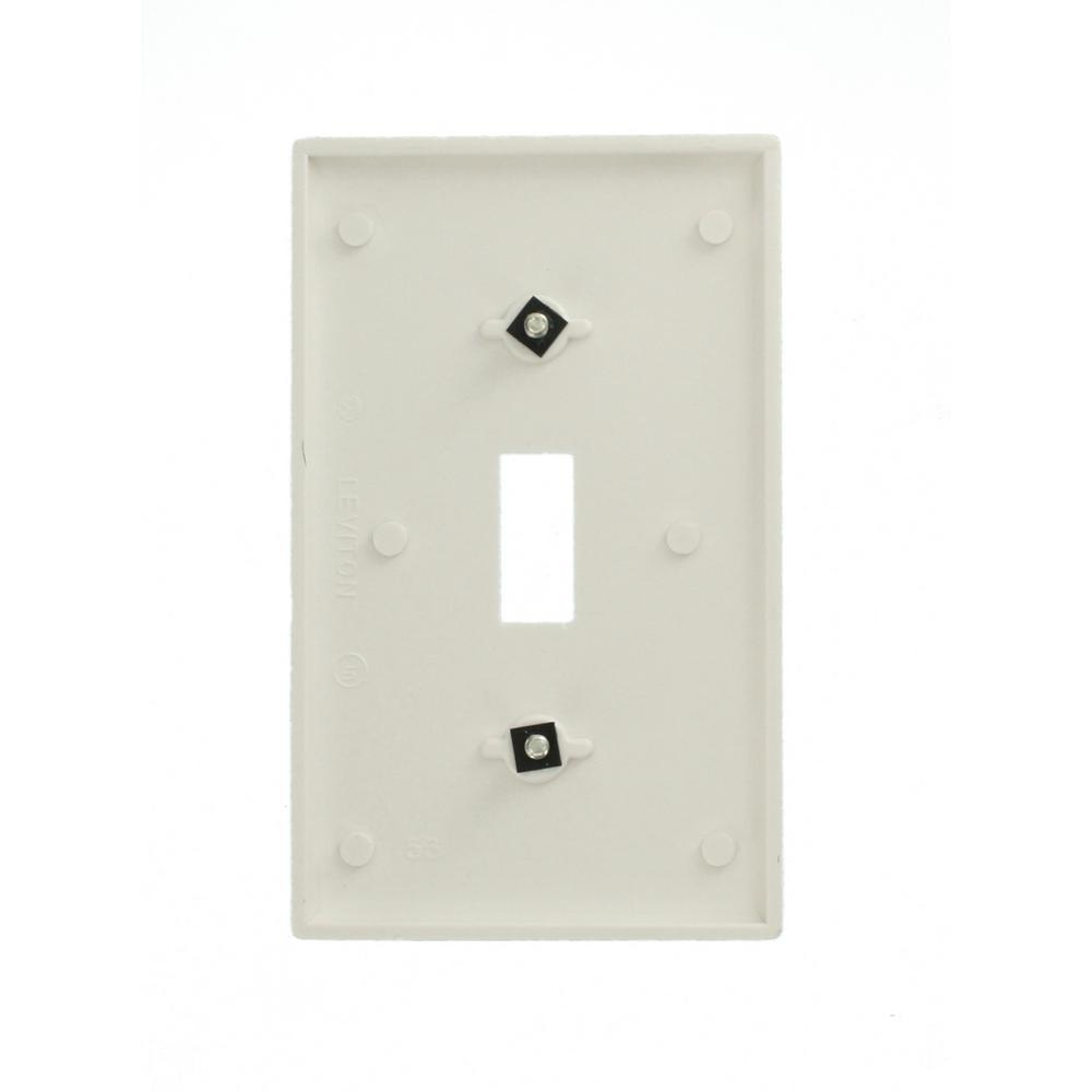 5 X 1 Gang 2 Way Single Light Switch White Plastic 10 Amp