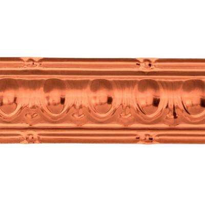 48 in. Huron Tin Crown Molding in Vintage Bronze