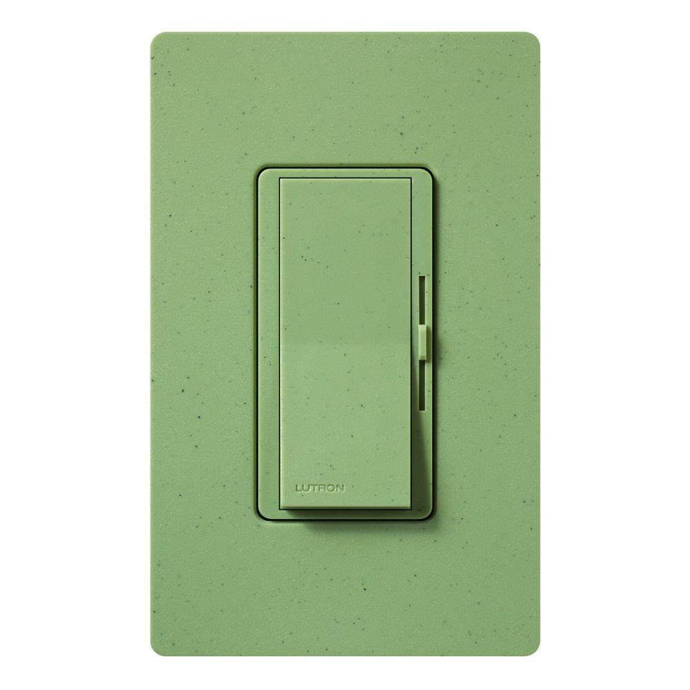 Diva Dimmer for Incandescent and Halogen, 600-Watt, Single-Pole, Greenbriar