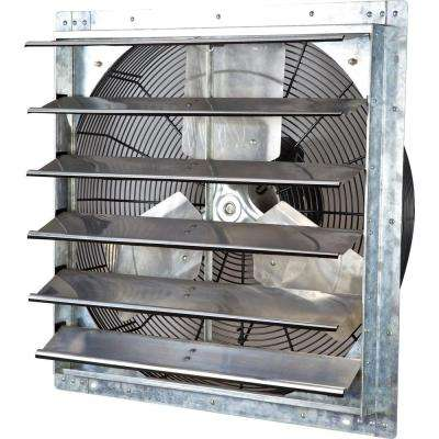 4244 CFM Silver Electric Powered Gable Mount Shutter Fan/Vent