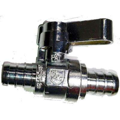1/2 in. PEX Barb Inlet x 1/2 in. PEX Barb Outlet 1/4-Turn Straight Ball Valve (10-Pack)