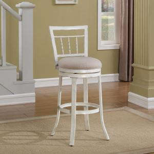 Admirable American Woodcrafters Palazzo 30 In Antique White Swivel Pdpeps Interior Chair Design Pdpepsorg