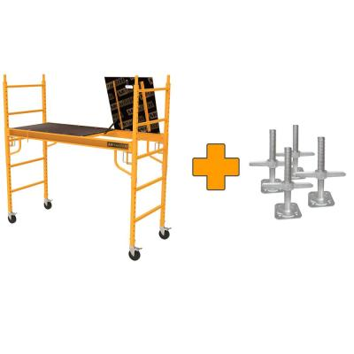 Safeclimb 6 ft. x 6 ft. x 2-1/2 ft. Baker Style Scaffold 1100 lbs. Capacity with Leveling Jacks