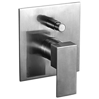 AB6801-BN Single-Handle Shower Mixer with Sleek Modern Design in Brushed Nickel