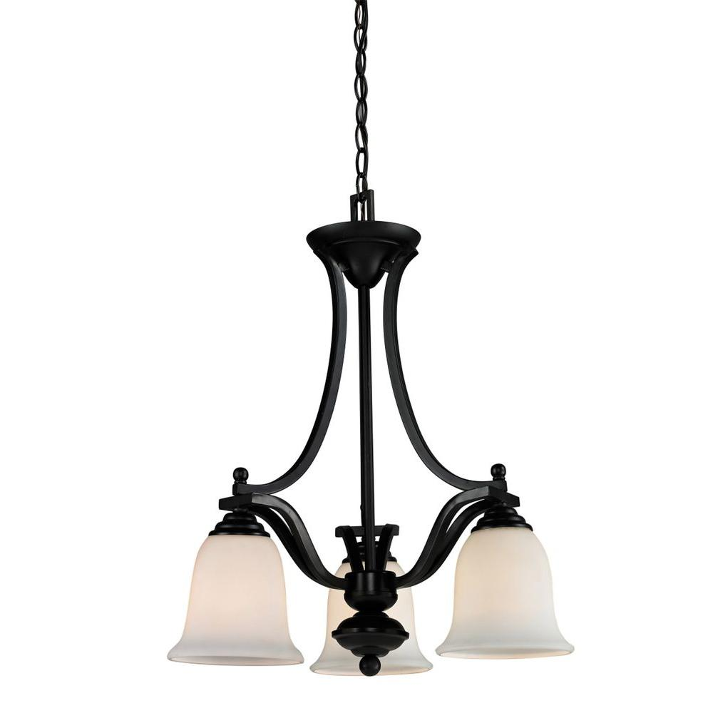 Lawrence 3-Light Bronze Incandescent Ceiling Chandelier